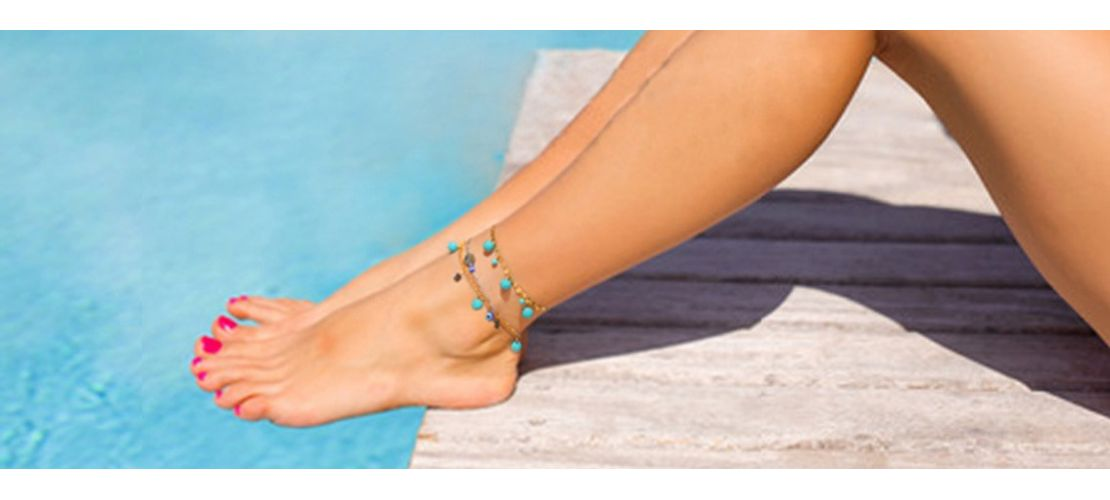 on sandals female elastic stone women for from quartz in ankle foot accessories wedding bead the bracelet anklets hot natural fashion boho anklet jewelry beach leg barefoot item chain